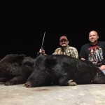 Hal and Tony's B-I-L score Monday evening with two nice piggies!