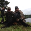 Warren and Jody with Warren's New Brunswick bear